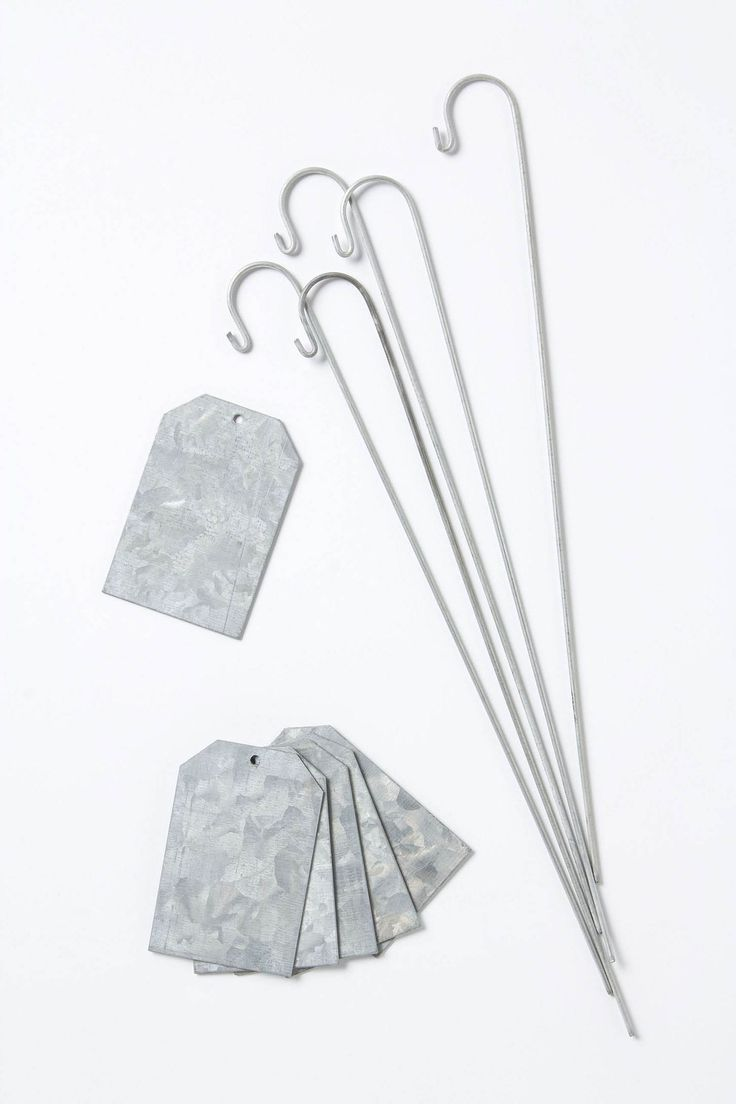 Garden love.  Galvanized Plant Markers (set of 6)  Label with paint, marker, or chalk!
