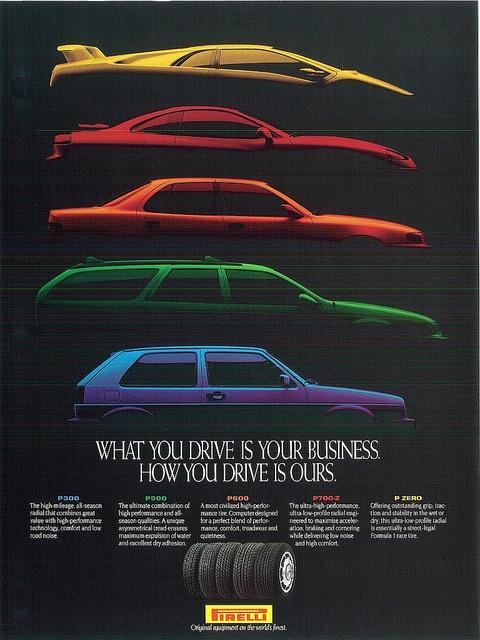 Multi Car Pirelli Poster
