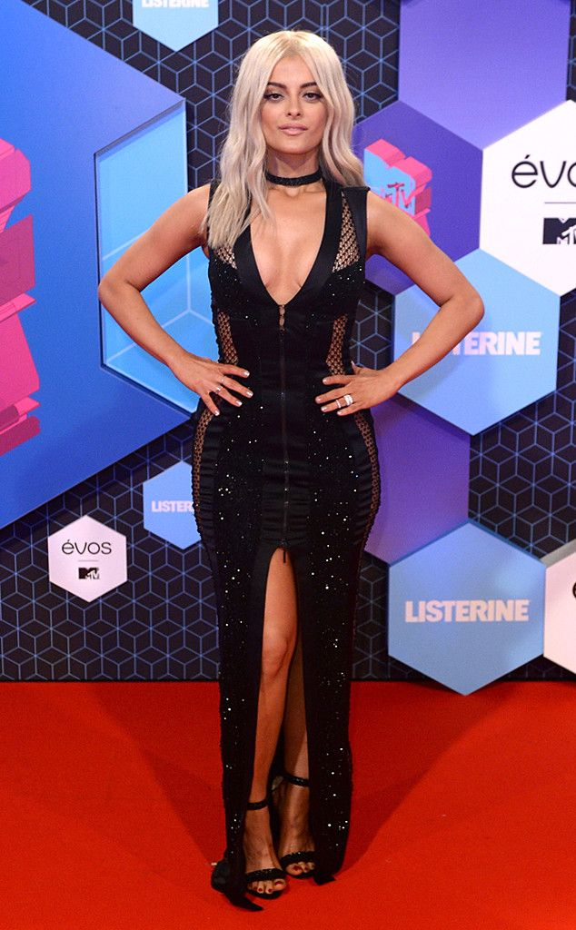 Bebe Rexha from MTV EMAs 2016 Red Carpet Arrivals  No one rocks a sassy black number quite like this bold singer.