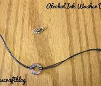Image result for washers and alcohol inks