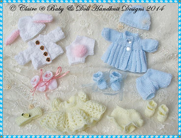 "Spring Pattern Compilation for Chubby 5&8"" Berenguer dolls-"