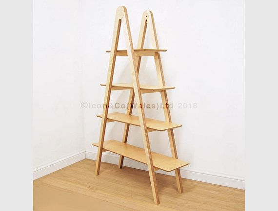 The Compass Ladder Shelf Birch Plywood Display Shelving Unit