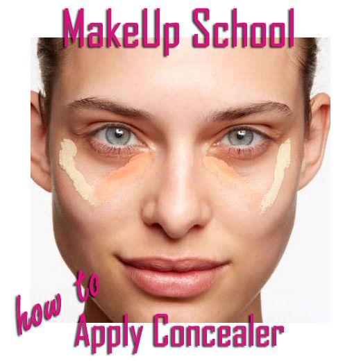 MakeUp School, First Class: Σωστή Εφαρμογή Του Concealer | Misswebbie.gr