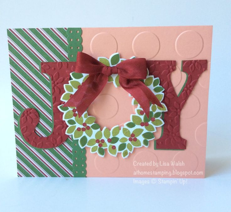 At Home Stamping: Stampin' Up Wondrous Wreath