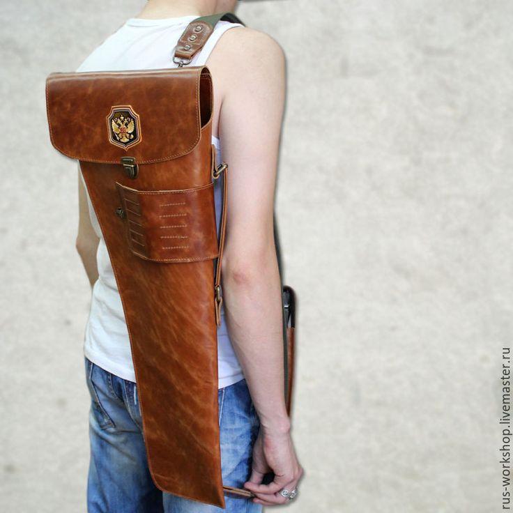Купить Чехол под автомат АК-47 + чехол под обойму. - коричневый, чехол