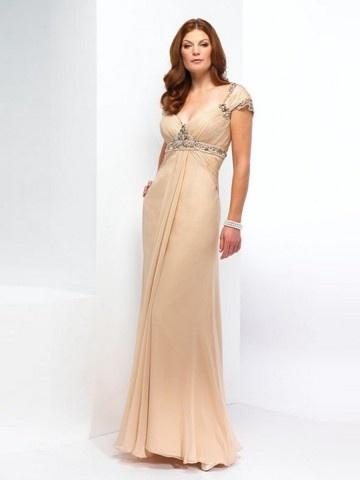 (NO.0248754)A-line V-neck  Rhinestone Short  Ankle-length Chiffon  Mother of the Bride Dresses