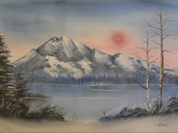 Frozen Mountain 16 x 12 Oil painting by Colin Walters