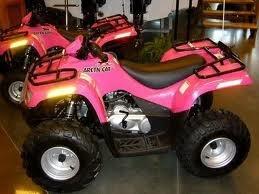 pink fourwheeler