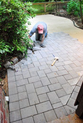 DIY  Patio With Pavers