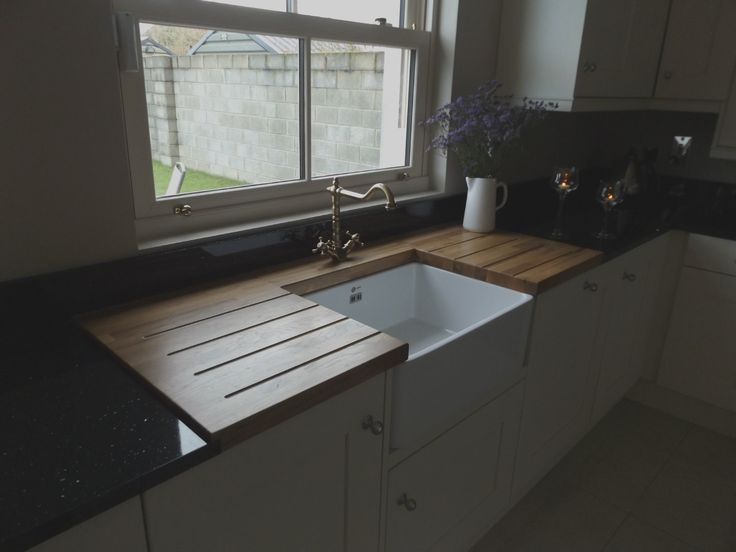 Solid Oak surround at Belfast Sink by Newhaven Kitchens, Carlow