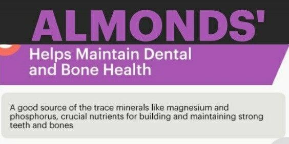 Almendras mantienen en buen estado huesos y dientes