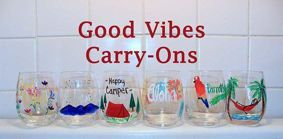 Stemless wine glasses Small Wine Glasses Travel wine glass
