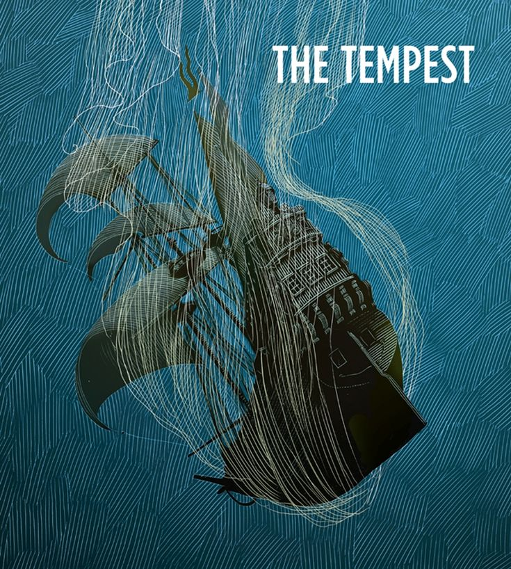 "Poster for the Shakespeare Theatre of New Jersey's 2014 production of ""The Tempest"""