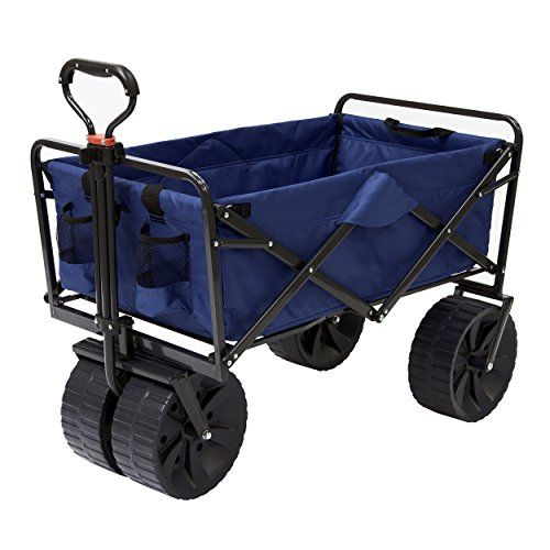 "The Best Beach Carts - This heavy duty beach cart has a 4.5 start out of 5 stars rating. Beach cart with big wheels keeps it from sinking into sand.  ""Beach cart sand"" capable and is one of the best sellers on Amazon."
