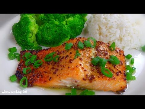Maple Glazed Salmon by Whats Cooking Lari - YouTube