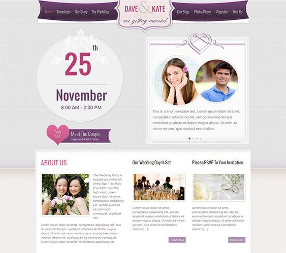 15 best 15 of the Best Free & Premium Wedding Website Templates ...