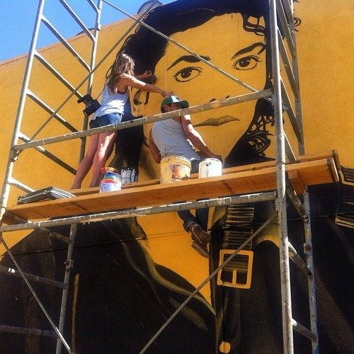 Levi ponce michael jackson mural los angeles august for Jackson 5 mural