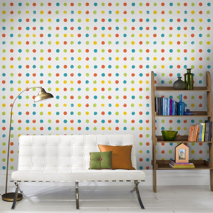 Paint Dots Multicoloured   Graham and Brown