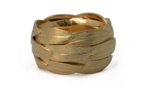 marvelous palm leaf ring by M. Varga