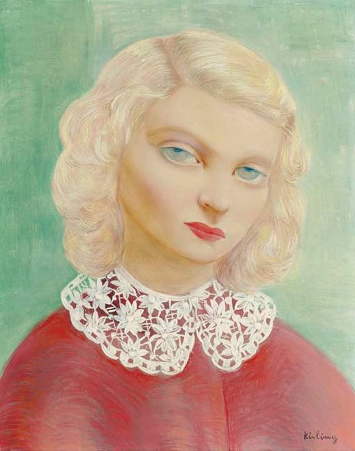 By Moise Kisling (1891-1953), 1938, Portrait with a collar.