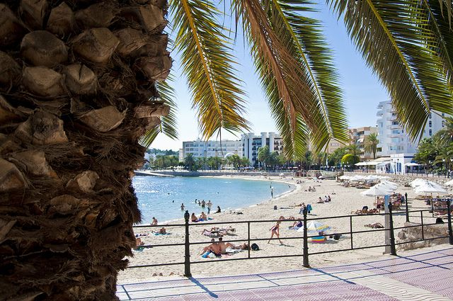 Ibiza beach of the week: Santa Eulalia  | The White Ibiza beach guide  http://www.white-ibiza.com/ibiza-beaches