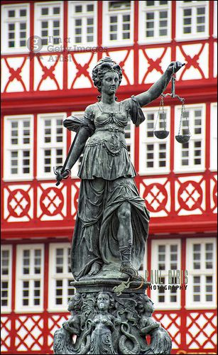 Fountain of Justice, Roemer Square, Frankfurt am Main, Germany