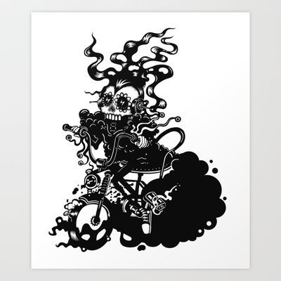 Dead rider by kartess Art Print by kartess - $18.00