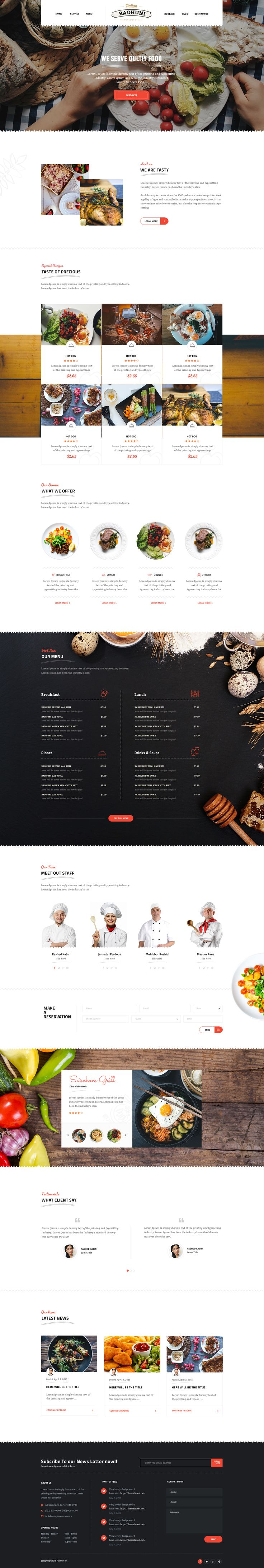 Italian Radhuni Food & Resturant HTML Template #asian food #bakery #burger #chef #cooking #$15