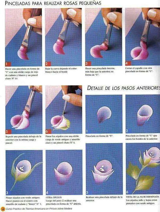 One stroke flowers