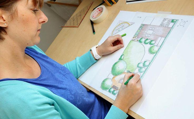 So zeichnen Sie einen Gartenplan