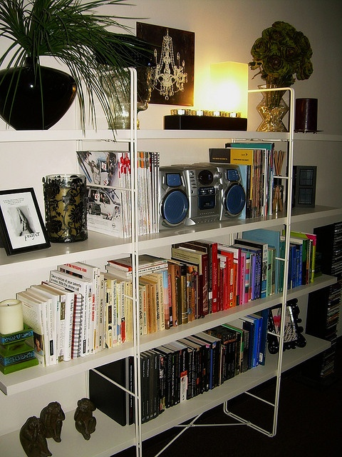 IKEA ENETRI shelving unit.  I have this unit and like to see how others arrange things so it doesn't look cluttered.