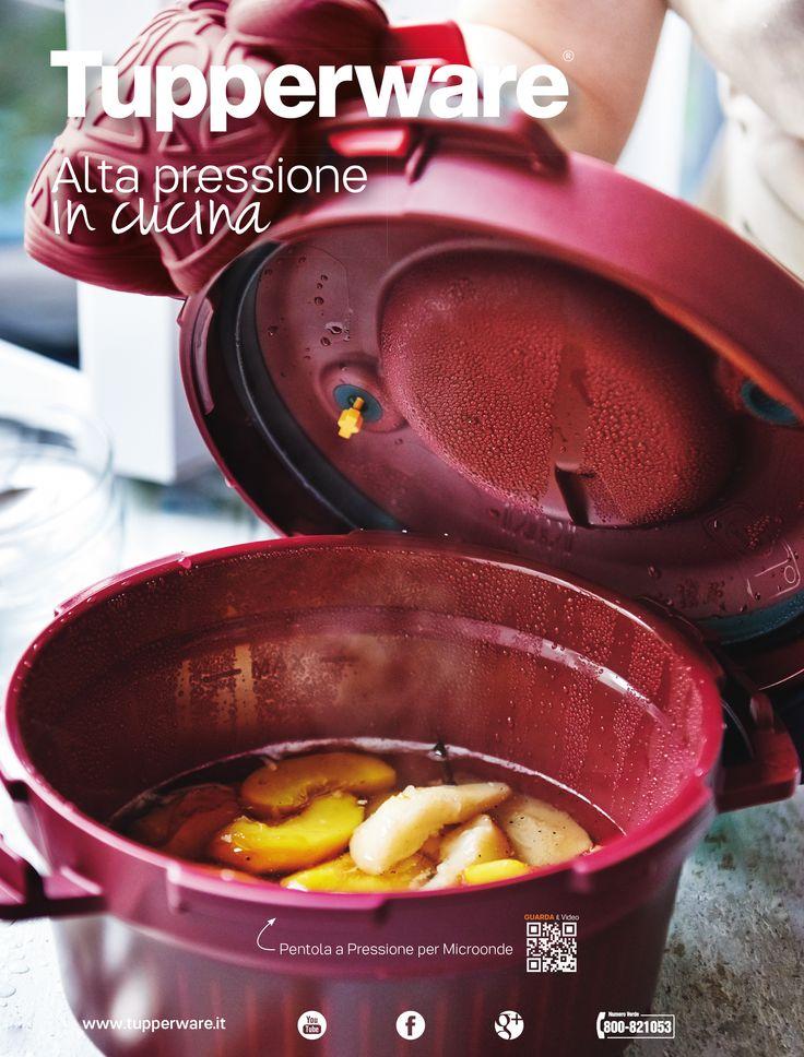 """L'unica """"pressione"""" che vogliamo in cucina è quella della Pentola a Pressione per Microonde Tupperware!"""