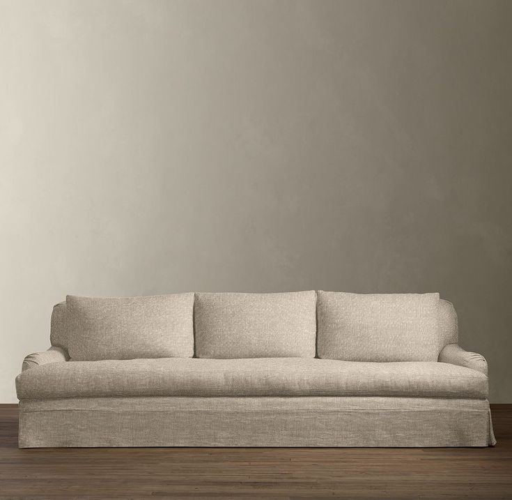 9 39 belgian classic roll arm slipcovered sofa sofas for Who manufactures restoration hardware furniture