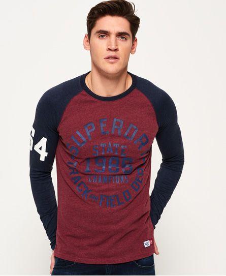 Superdry Trackster Baseball Long Sleeve T-Shirt