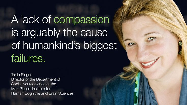 A lack of #compassion is arguably the cause of #humankind's biggest failures. - Tania Singer in #Davos at #wef15