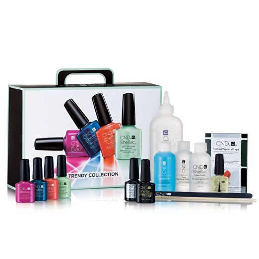 CND Shellac Pakket Trendy Collection Nagellak  LED Lamp 1Pakket  Description: CND Shellac Pakket Trendy Collection  LED Lamp. Bevat Base Coat Top coat Color Coat in de kleuren: Electric Orange Pink Bikini Cerulean Sea en Tango Passion Scrubfresh Cuticle Away Solaroil Isoprophyl alcohol Nourishing Remover Kanga vijl Orange Wood stick CND LED Lamp en brochure.  Price: 543.30  Meer informatie