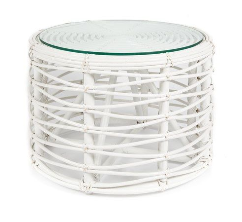 Save on the White Rattan Round Coffee Table with Glass - 60x60x40cm and a huge range of United Furniture products at Furniture Online