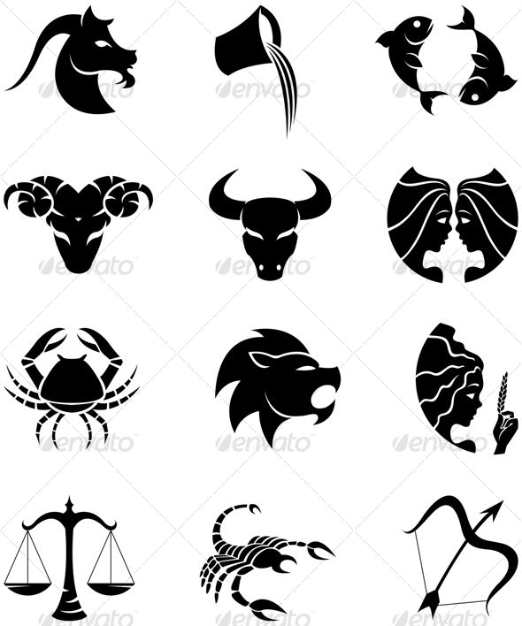 zodiac silhouettes zodiac star sign silhouettes stylish horoscope vector eps illustration of. Black Bedroom Furniture Sets. Home Design Ideas