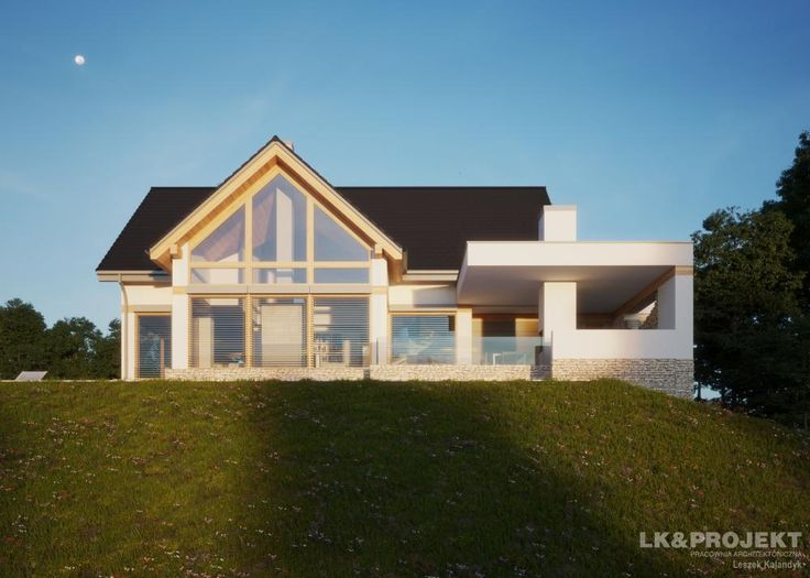 LK&1303 - http://lk-projekt.pl/lkand1303-produkt-9626.html  #project #houseproject #house #modern #architecture #polisharchitecture #homesweethome #singlefamilyhouse #exterior #build #dreamhome #dreamhouse #design #villa #residence