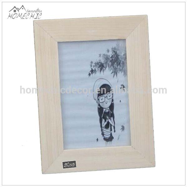 Unfinish solid wood 4x6 wholesale picture frames bulk
