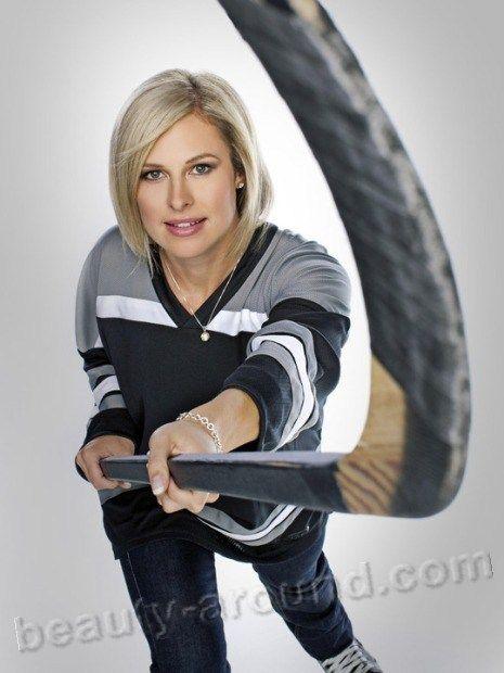 Tessa Bonhomme,Canadian female hockey player. Role - quarterback. 2010 Olympic champion, World champion  2007.
