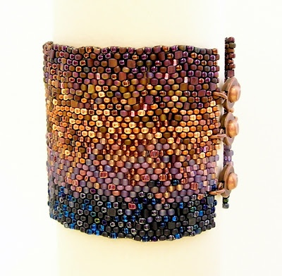 """""""The Far Sunset"""" by Morwyn from 'Another Country Beadworks' This is exquisite beading and design."""