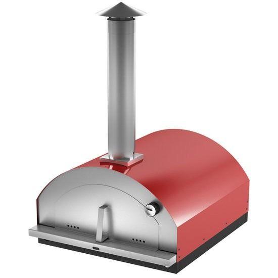 forno a lenha portatil c/ pedra p/ pizza paes moderno inox