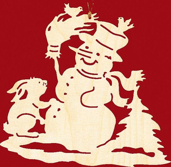 Taulin Fensterbild Weihnachten Schneemann mit Hase