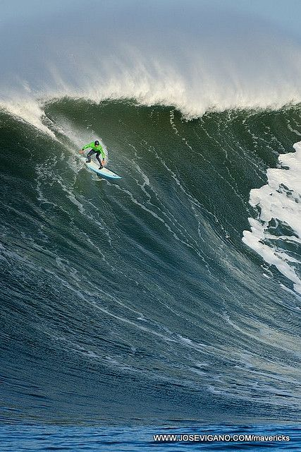 Maverick's Surf Competition Big Wave Surfing in the Winter.