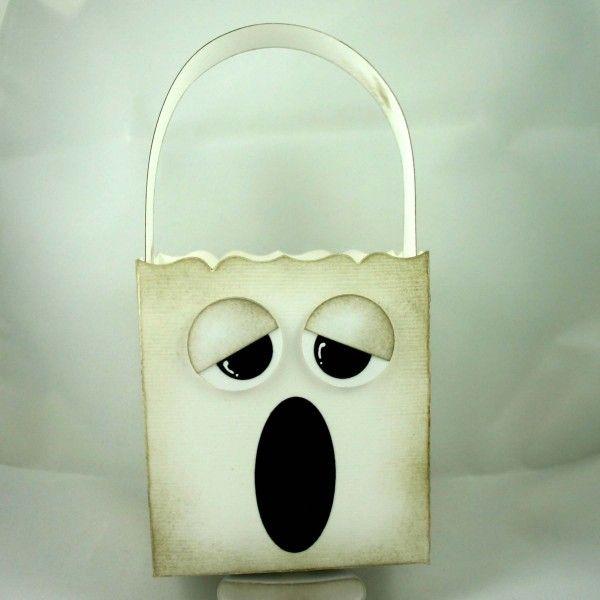 Stampin' Up!  Fancy Favor Box  Dana Newsom  Halloween Ghost