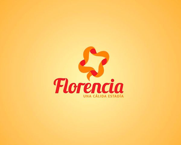 """Imagen de marca Florencia """"una cálida estadia"""" by Kiubo! Comunicación Creativa, via Behance"""