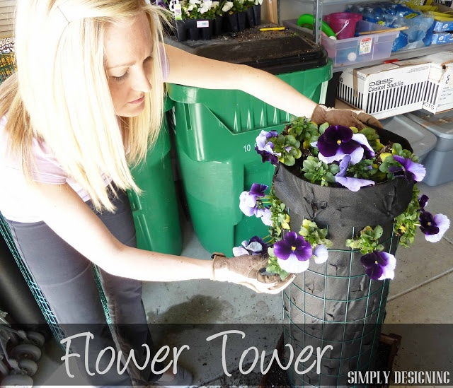 DIY Flower Tower {Part 1}