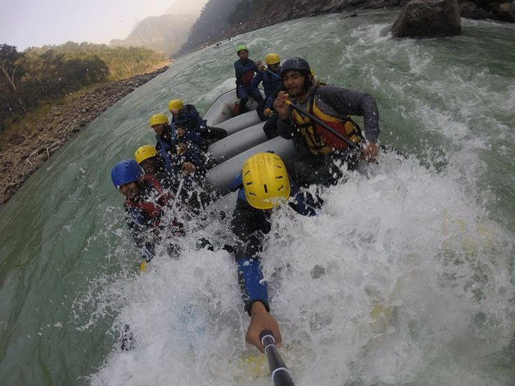 All About Safe Water Rafting  >>> River rafting is an adventure sport in which a group of people, usually 10, get on an inflated boat and take on the fast flowing river. The best feature about the river rafting that makes people addicted to it is that it is a purely raw sport.  >>> #WaterRiverRafting, #RiverRafting, #Rishikesh, #India