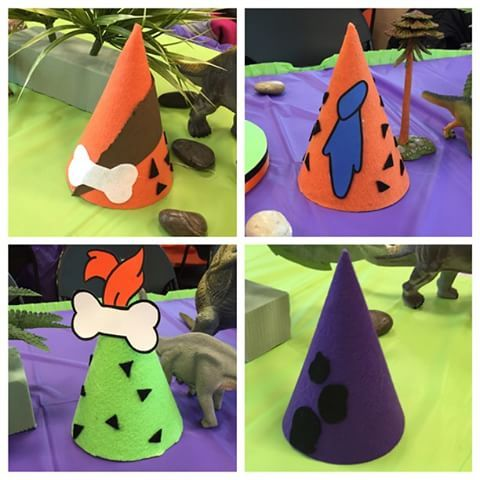Order your Customized party hats for any theme. #flintstones #partyhats #partysupplies #birthdayparty #GLCreations